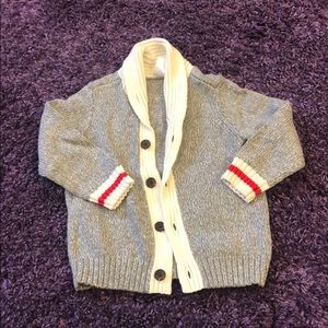 Adorable Toddler Boy Letterman Sweater Sz 3T